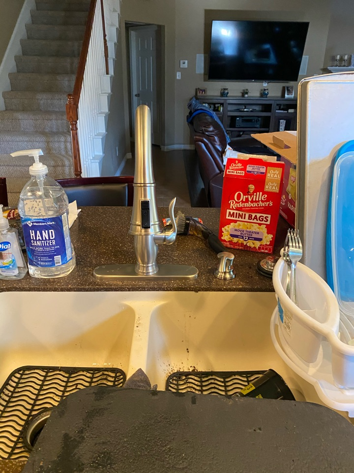 Replaced kitchen faucet