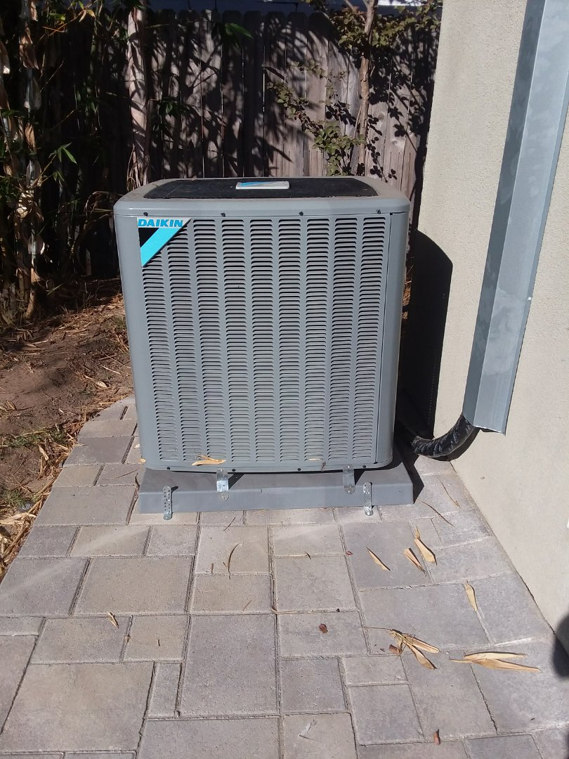 Southwest HVAC Inc passes city inspection in Redondo Beach on a new Daikin 4 Ton Air Conditioning system.