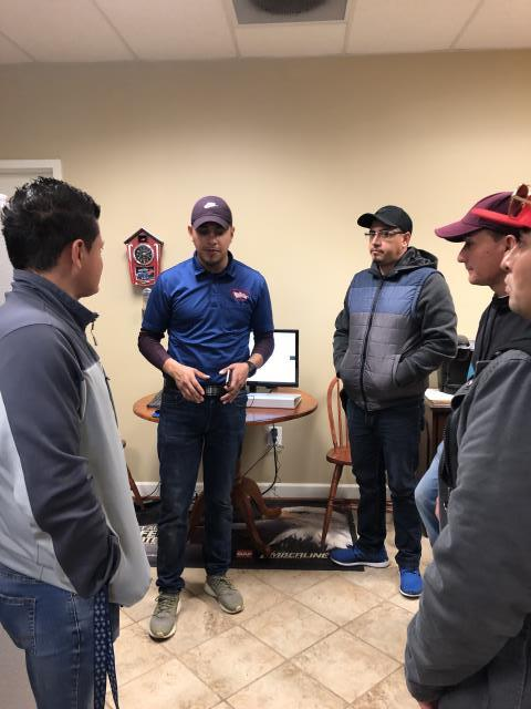 Manassas, VA - Manassas, VA - Safety Meeting with Crew.  Safety is of utmost importance - safety for crew, the job project, and your home!