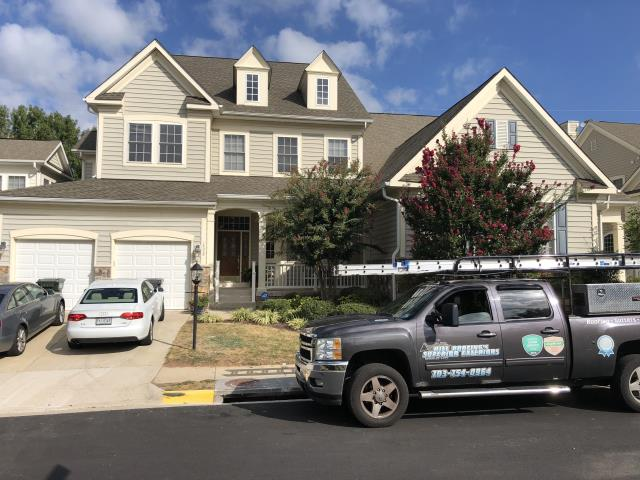 Chantilly, VA - Fairfax, VA - This gorgeous home just got a full roof replacement with the new architectural shingle made by GAF. Customer could not be happier with the workmanship and service provided!