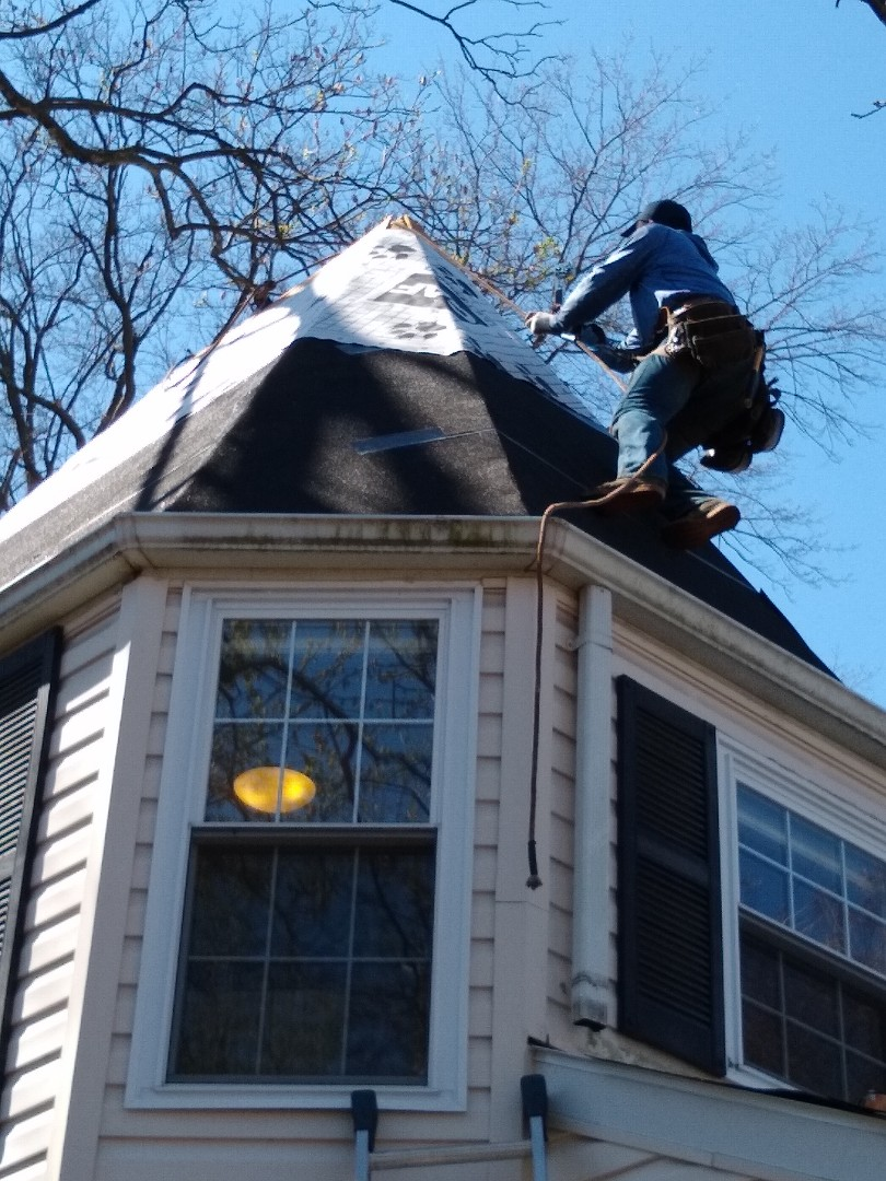 Arlington, VA - Arlington, VA - One of our employees working on a home in Arlington Virginia applying ice and water shield on a steep roof. #HillRoofing #ArlingtonVARoofer #Roofer #NorthernVARoofer #FauquierCounty #RoofingCompany #RoofingNorthernVA #RoofingFairfaxVA #RoofingArlingtonVA #RoofingCentrevilleVA #Roofing #ContractorVirginia #ManassasRoofingContractor #NorthernVirginiaRoofer #RoofReplacement #GAF #HDZ #Shingle