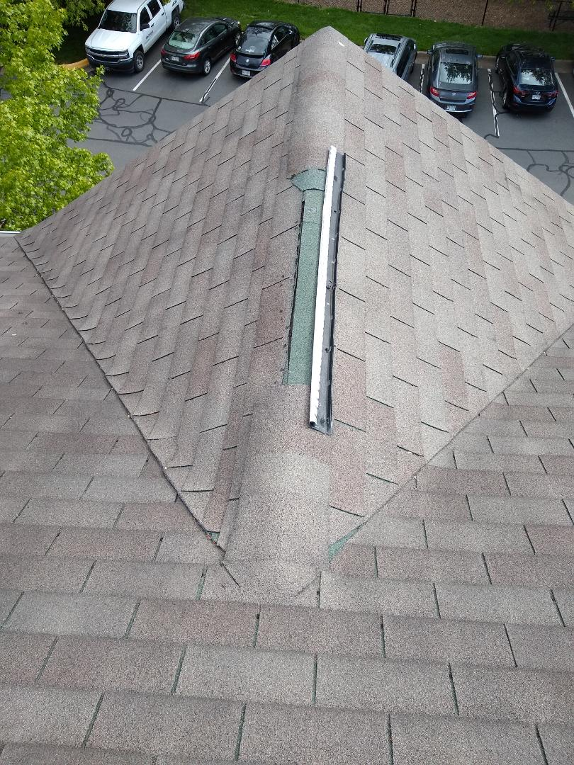 Centreville, VA - Centreville, VA - Performing an inspection on a townhome. Their ridge vent has blown off. It was interesting to find that the builder never cut in the area for ventilation. #FairfaxRoofer #FairfaxCounty #VARoofer #AffordableRoofingCompanyNearMe #LocalRoofers #RoofMaintenanceCompany #RoofingCompany #RoofingNorthernVA #RoofingFairfaxVA #RoofingArlingtonVA #RoofingCentrevilleVA #Roofing #ContractorVirginia #ManassasRoofingContractor #NorthernVirginiaRoofer #RoofInspection #HonestCompany