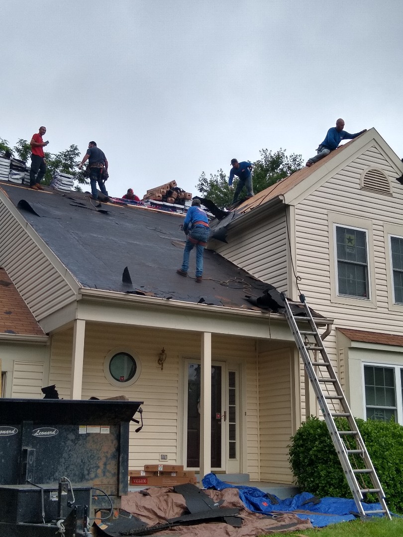 Centreville, VA - Centreville, VA - Our crew is working hard early this morning removing the shingles from our customers home. We will be installing GAF HDZ shingles with the unlimited wind warranty. #CentrevilleRoofer #PrinceWilliamCounty #VARoofer #AffordableRoofingCompanyNearMe #LocalRoofers #RoofMaintenanceCompany #RoofingCompanyNearMe #RoofingCompany #RoofingNorthernVA #RoofingFairfaxVA #RoofingArlingtonVA #RoofingCentrevilleVA #Roofing #ContractorVirginia #ManassasRoofingContractor #NorthernVirginiaRoofer #RoofReplacement