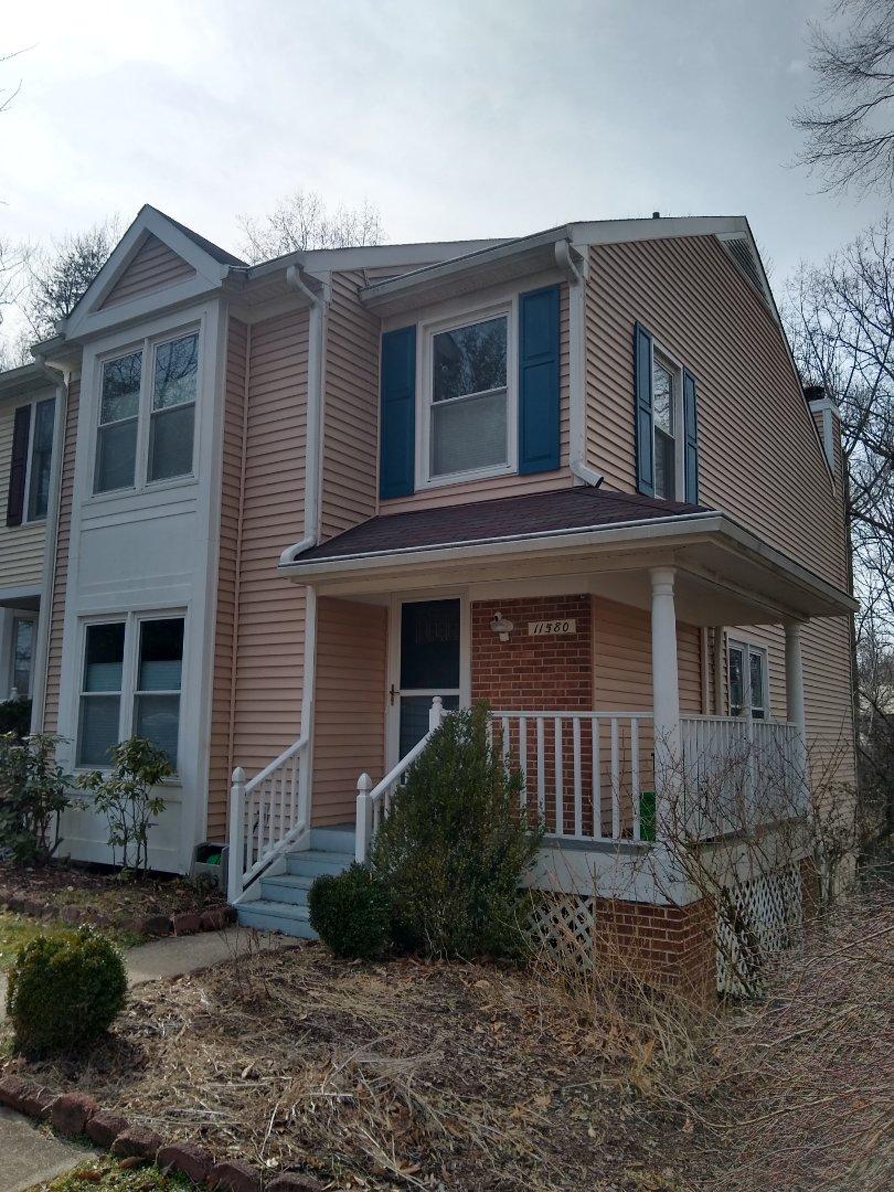 Woodbridge, VA - Hill Roofing in Woodbridge Va. Providing an estimate for a homeowner.
