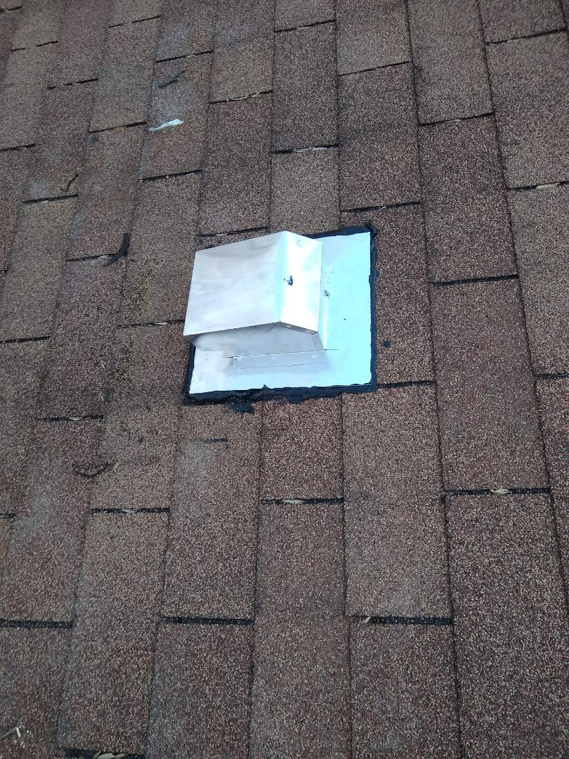 Vienna, VA - This is a great example of why you should call a professional roofer to do your repairs. This Broan vent was just placed on top of the shingles and sealant was put around the flashing. Call Hill Roofing for your repairs needs. #NorthernVAAffordableRoofingCompanyNearMe #BurkeAffordableRoofingCompanyNearMe #WarrentonLocalRoofers #NorthernVARoofMaintenanceCompany #LortonRoofMaintenanceCompany #NorthernVARoofingCompanyNearMe #ManassasRoofingCompanyNearMe #NorthernVARoofingCompany
