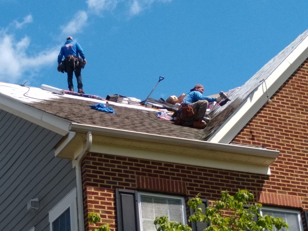 Leesburg, VA - Hill Roofing in the process of installing a new roof in Leesburg, VA. #NorthernVAAffordableRoofingCompanyNearMe #BurkeAffordableRoofingCompanyNearMe #WarrentonLocalRoofers #NorthernVARoofMaintenanceCompany #LortonRoofMaintenanceCompany #NorthernVARoofingCompanyNearMe #ManassasRoofingCompanyNearMe #NorthernVARoofingCompany