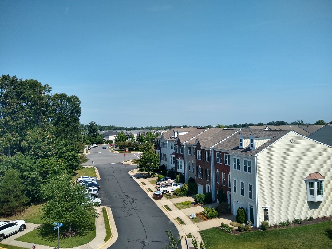 Centreville, VA - Our view from a roof replacement in Centreville VA. #NorthernVAAffordableRoofingCompanyNearMe #BurkeAffordableRoofingCompanyNearMe #WarrentonLocalRoofers #NorthernVARoofMaintenanceCompany #LortonRoofMaintenanceCompany #NorthernVARoofingCompanyNearMe #ManassasRoofingCompanyNearMe #NorthernVARoofingCompany