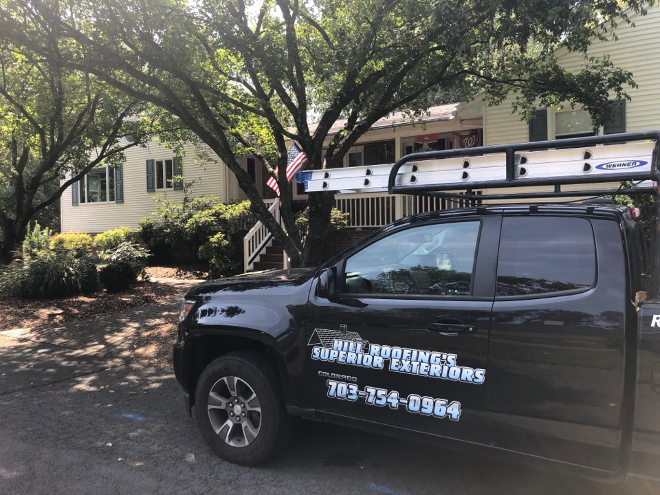 Oakton, VA - Hill roofing performing a free roofing proposal. #NorthernVAAffordableRoofingCompanyNearMe #BurkeAffordableRoofingCompanyNearMe #WarrentonLocalRoofers #NorthernVARoofMaintenanceCompany #LortonRoofMaintenanceCompany #NorthernVARoofingCompanyNearMe #ManassasRoofingCompanyNearMe #NorthernVARoofingCompany