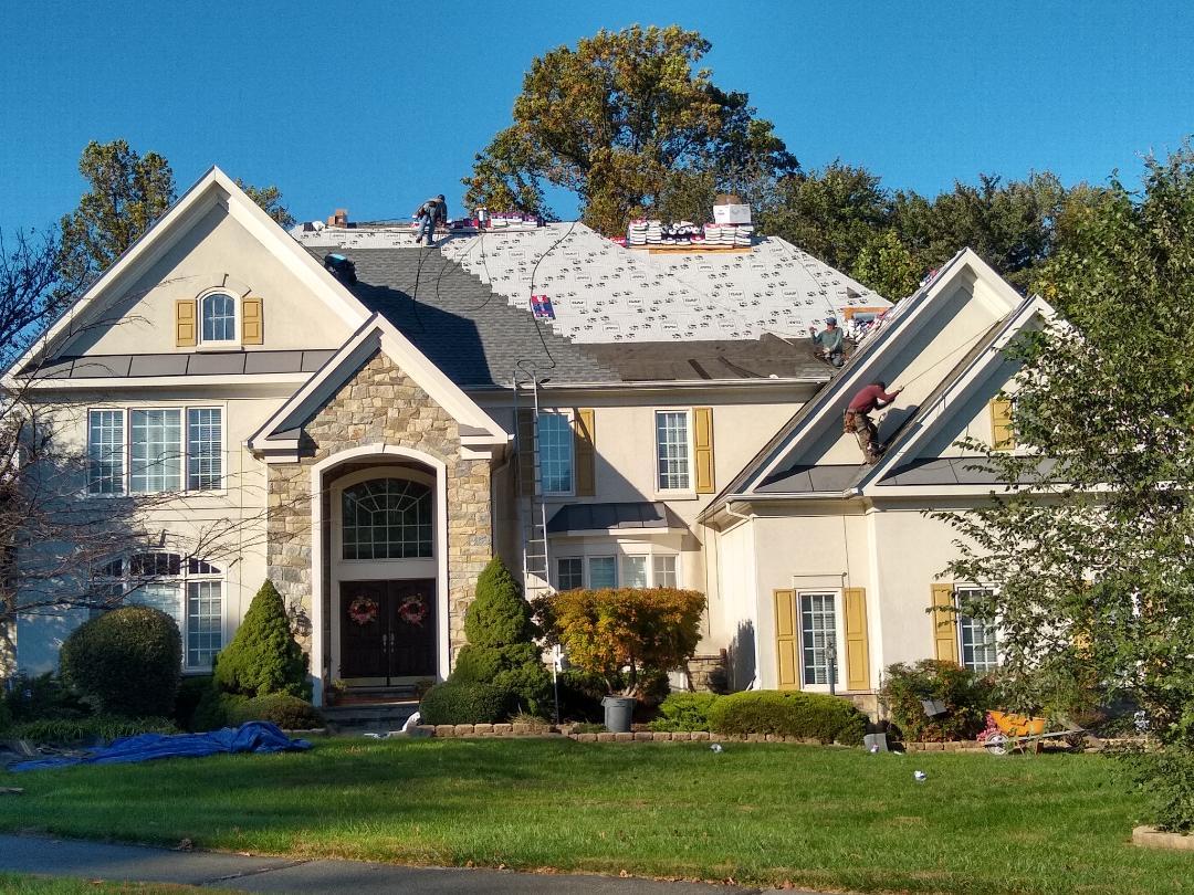 Reston, VA - Hill Roofing is in Reston, VA installing a new Roof.
