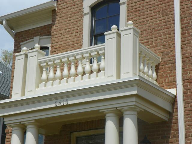 Vienna, VA - Completed repair work on deteriorated front portico.