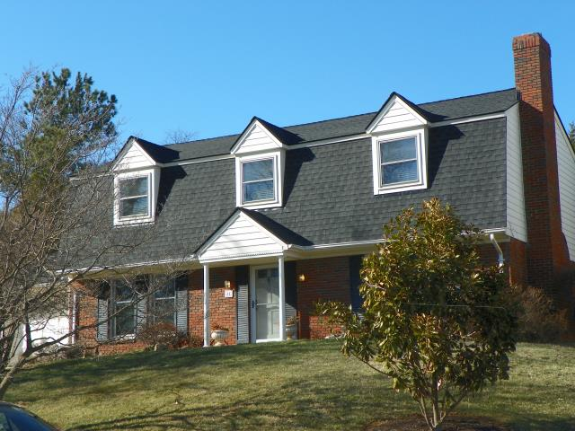 Leesburg, VA - Completed roof replacement for mansard roof on this home.  Customer selected GAF Timberline HD shingles.