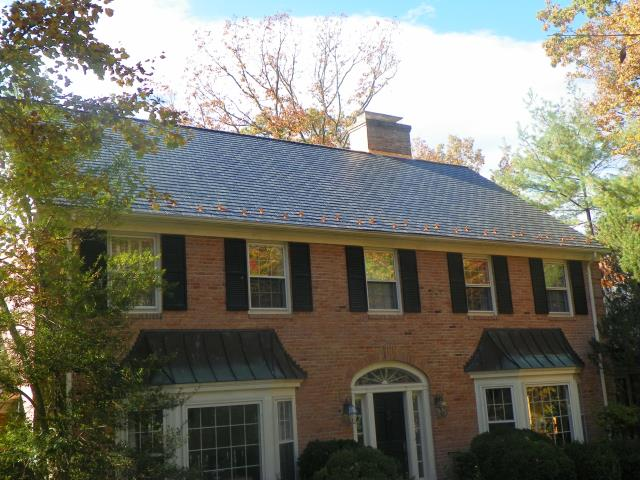 McLean, VA - Roof replacement with EcoStar Slate including snow guards.