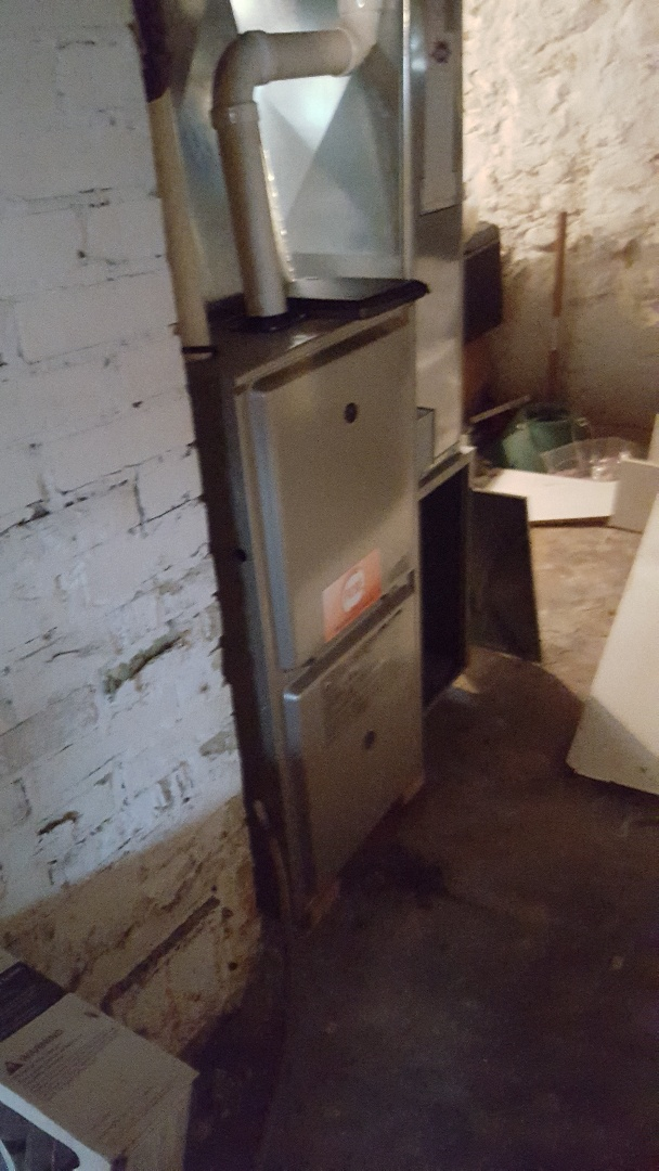 Saukville, WI -  replacing defective blower motor on Payne high efficiency gas furnace