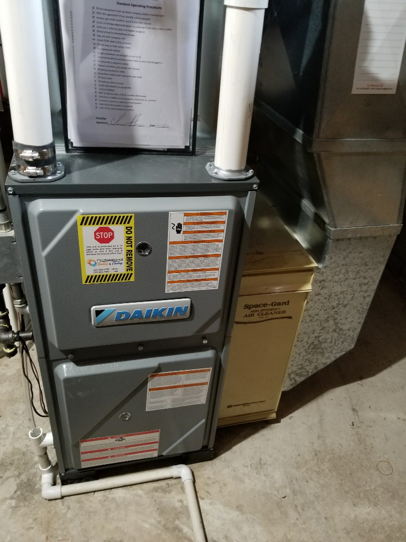 Grafton, WI - Daikin furnace installation