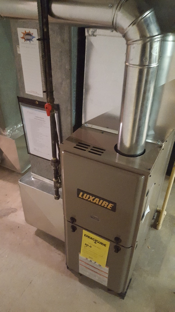 Port Washington, WI - Luxaire furnace install