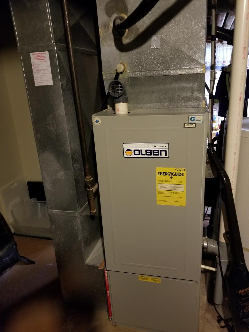 Cedarburg, WI - Olson furnace repair
