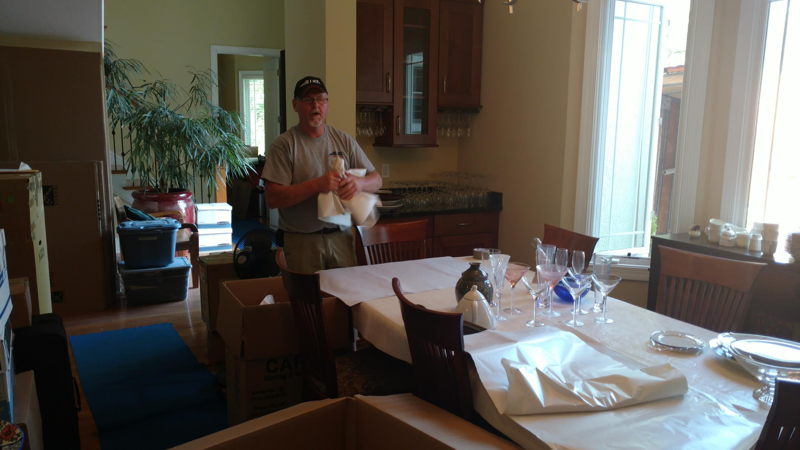 Asheville, NC - Packing and Loading Mr. & Mrs. Simon for move into storage.