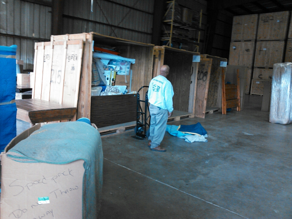 Black Mountain, NC - Unloading shipment at Warehouse that was picked up yesterday in Black Mountain.