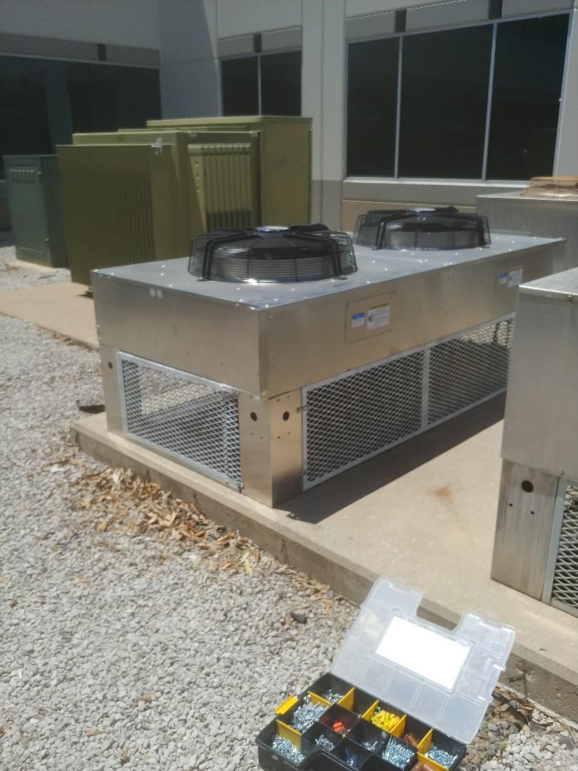 Installing Liebert units in Tulsa