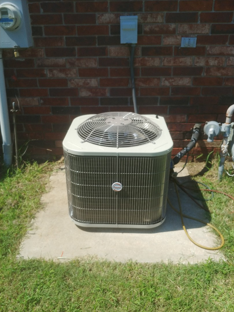 Collinsville, OK - Installed Payne 2 ton condenser and coil at customer's house in Collinsville
