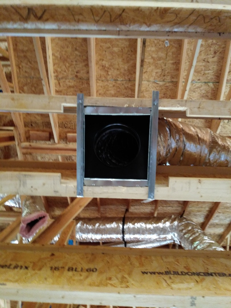 Sand Springs, OK - Installing new Heat and Air system in new residential construction in Sand Springs, Oklahoma
