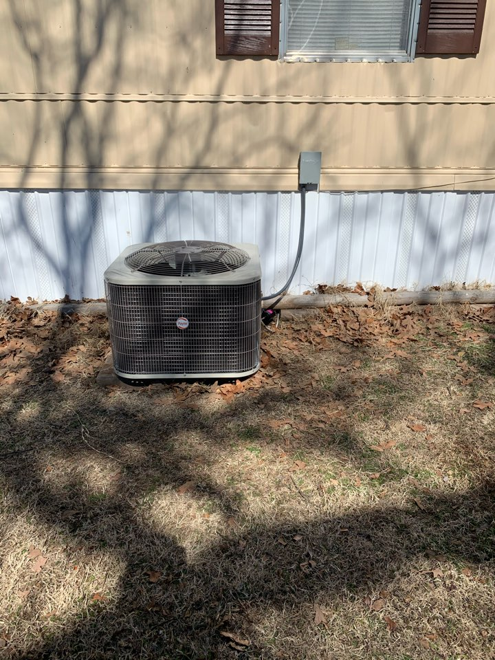 Installing new electric heater and new ac system in wagoner OK