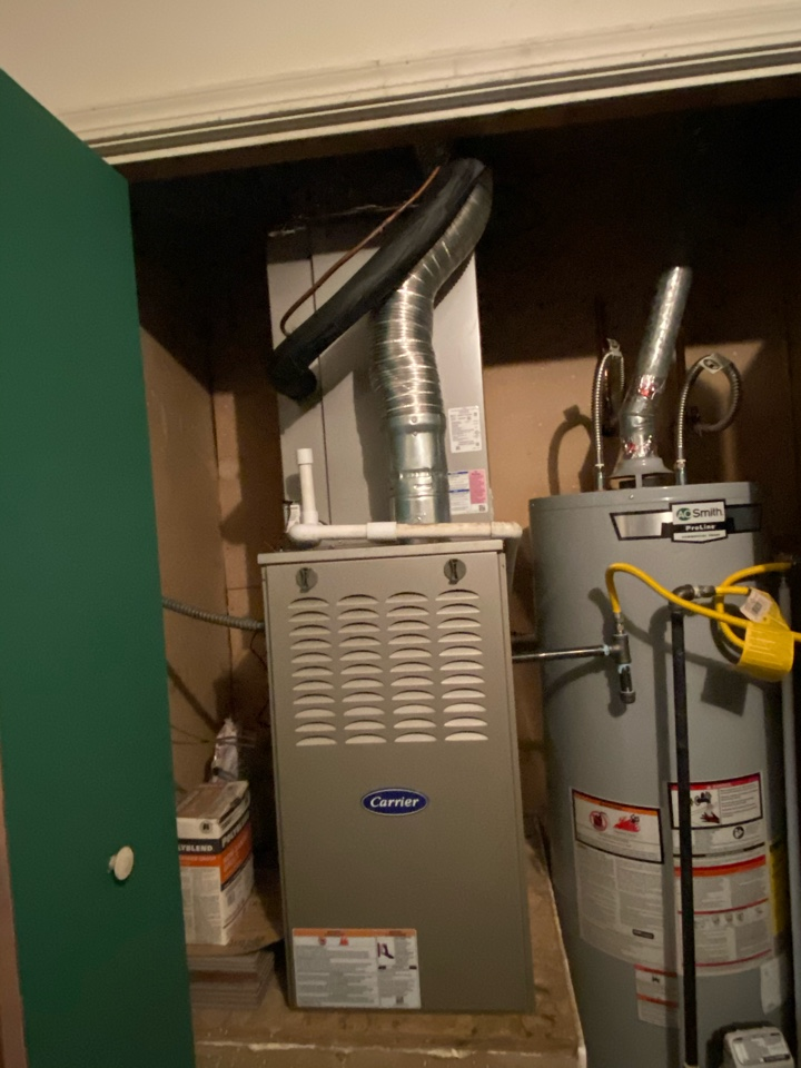 Finishing a preventative maintenance on a carrier furnace in Collinsville Oklahoma