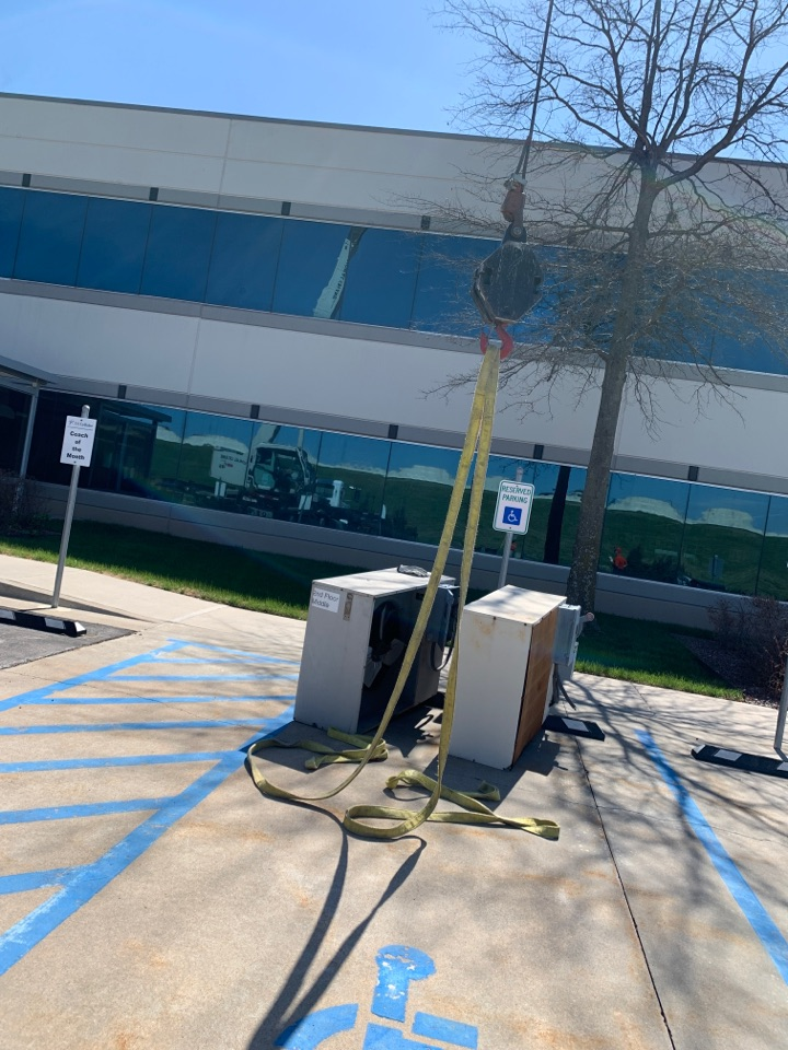 Replacing old liebert units with new at US Celular in Tulsa Ok.