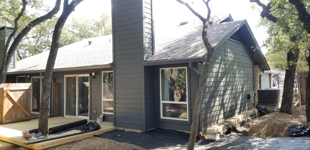Austin, TX - Just replaced and painted all the siding on this duplex with James Hardie  Lap siding, looks sharp!