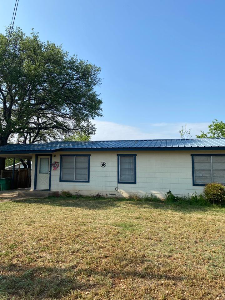 Llano, TX - Metal Roof Inspection Llano Texas. Hail Damage!!