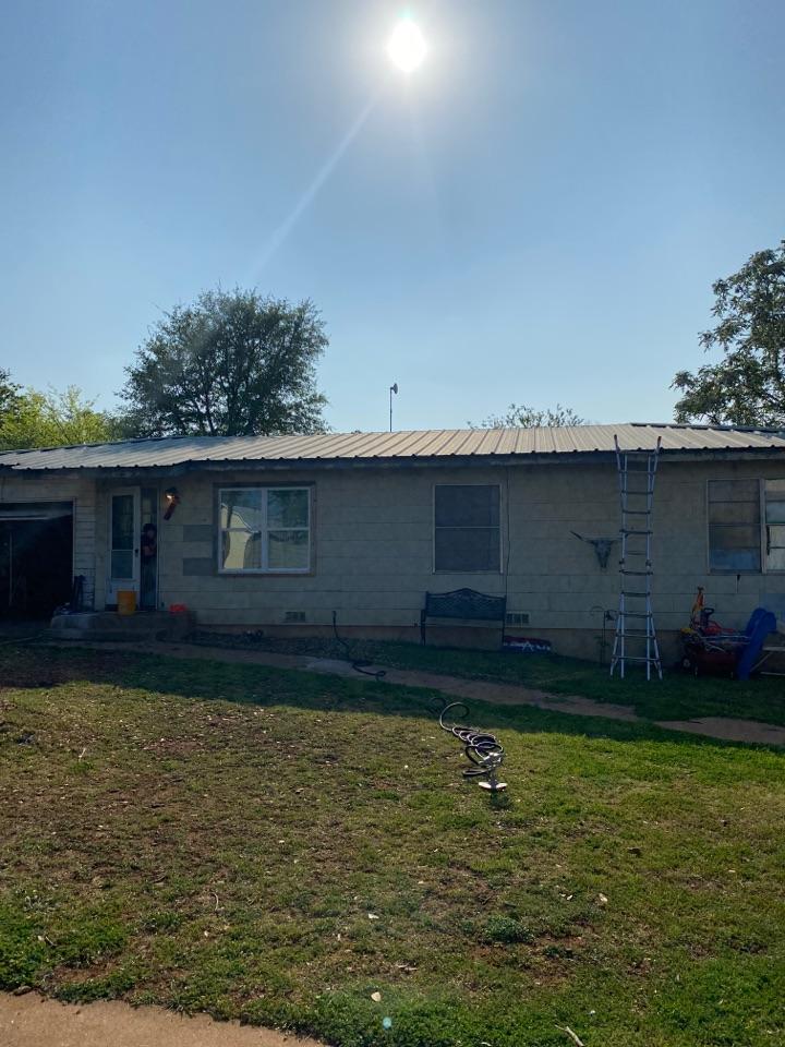 Llano, TX - Metal Roof Inspection. Llano Hail storm.
