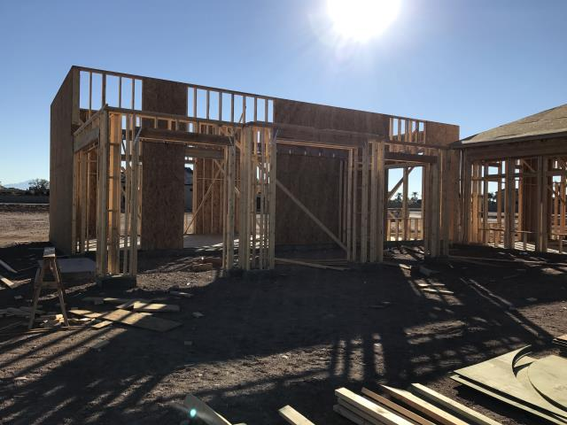 Mesa, AZ - Started the framing phase of the new home build!