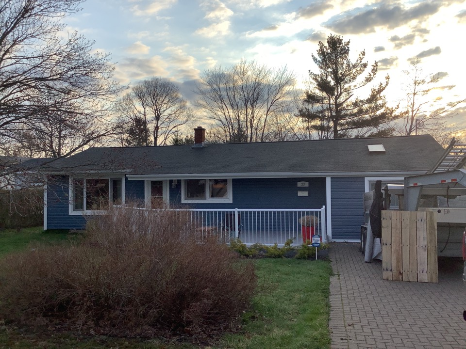 Dartmouth, NS - Installing new GAF Timberline HDZ roof and VELUX skylights.