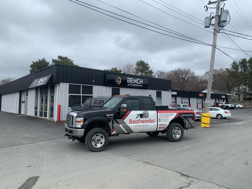 Woodside, NS - Commercial roof repairs, GACO roof.