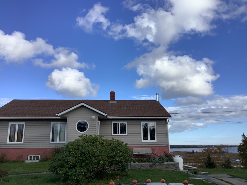 Head of Chezzetcook, NS - Doing a side inspection for a metal roof and solar job