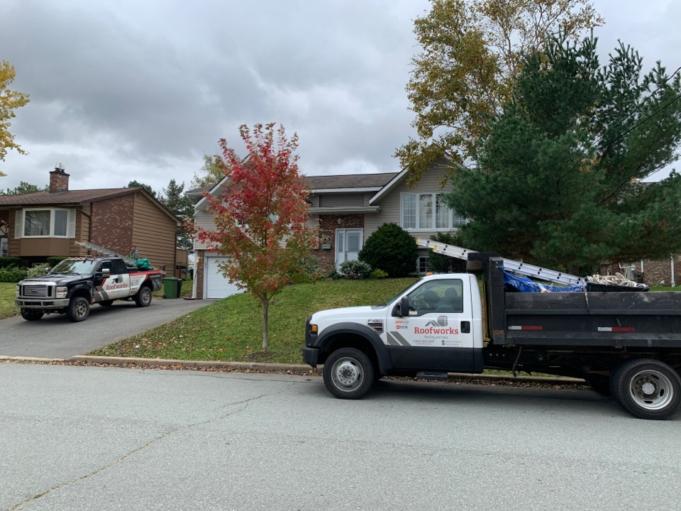 Dartmouth, NS - Roofworks installing new GAF HDZ asphalt roof. #gafcertified #roofing #roofingcompanyhalifax #roofers