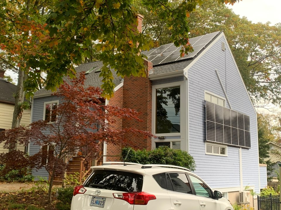 Halifax, NS - Roofworks installed new Gaf Timberline HDZ shingles. Velux Skylights a new 10kw Solar system. #roofing #solar #velux #gaf