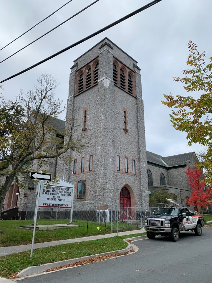 Halifax, NS - Roofworks installed GACO UV reflective roof coating on this historic church in Halifax! #gaco #roofcoatings #historicproperties #roofinghalifax #roofingcompanyhalifax