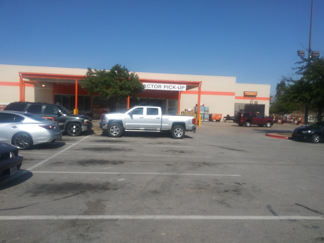 Austin, TX - Materials run to Home Depot off of Stassney Lane in South Austin.