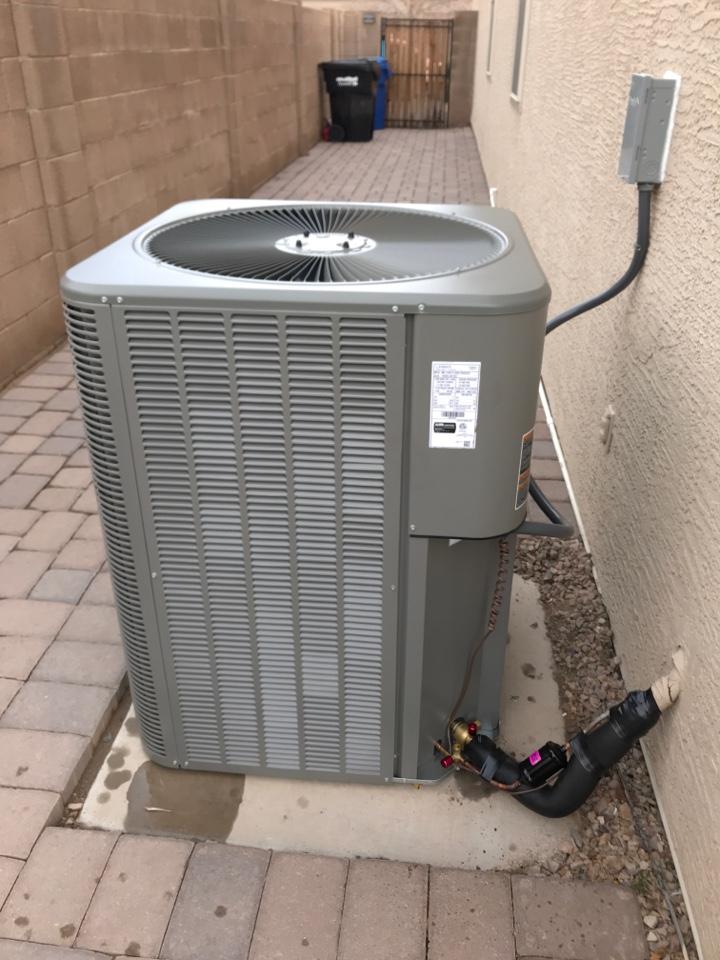 Cooling maintenance on Trane air conditioner in Verrado Buckeye