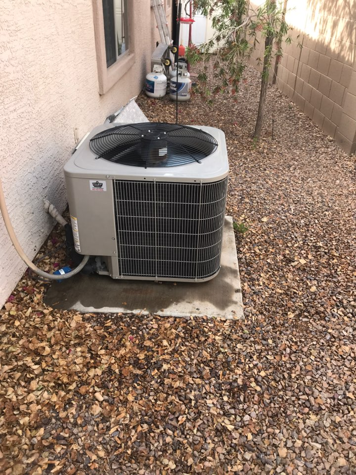 Goodyear, AZ - Cooling maintenance on Carrier air conditioner in Canyon Trails Goodyear