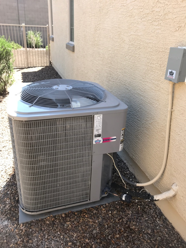 Goodyear, AZ - Cooling maintenance on Carrier air conditioner and replace capacitor and disconnect