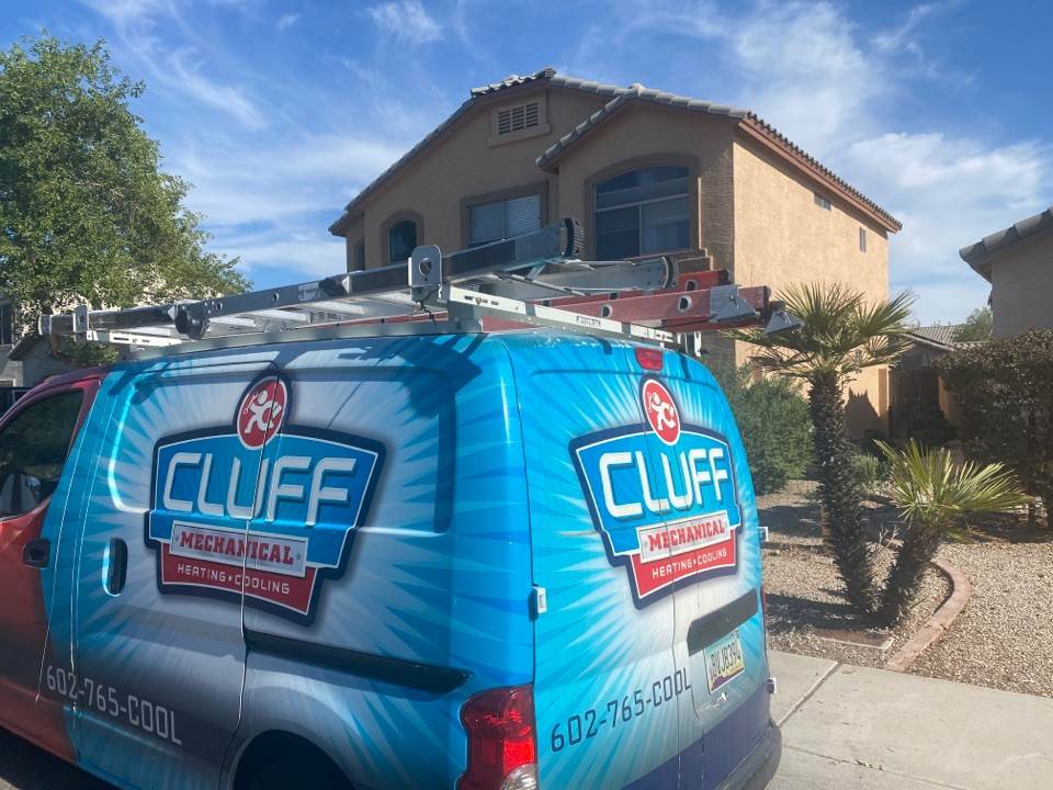 Avondale, AZ - Working on a clogged condensation line in Avondale.