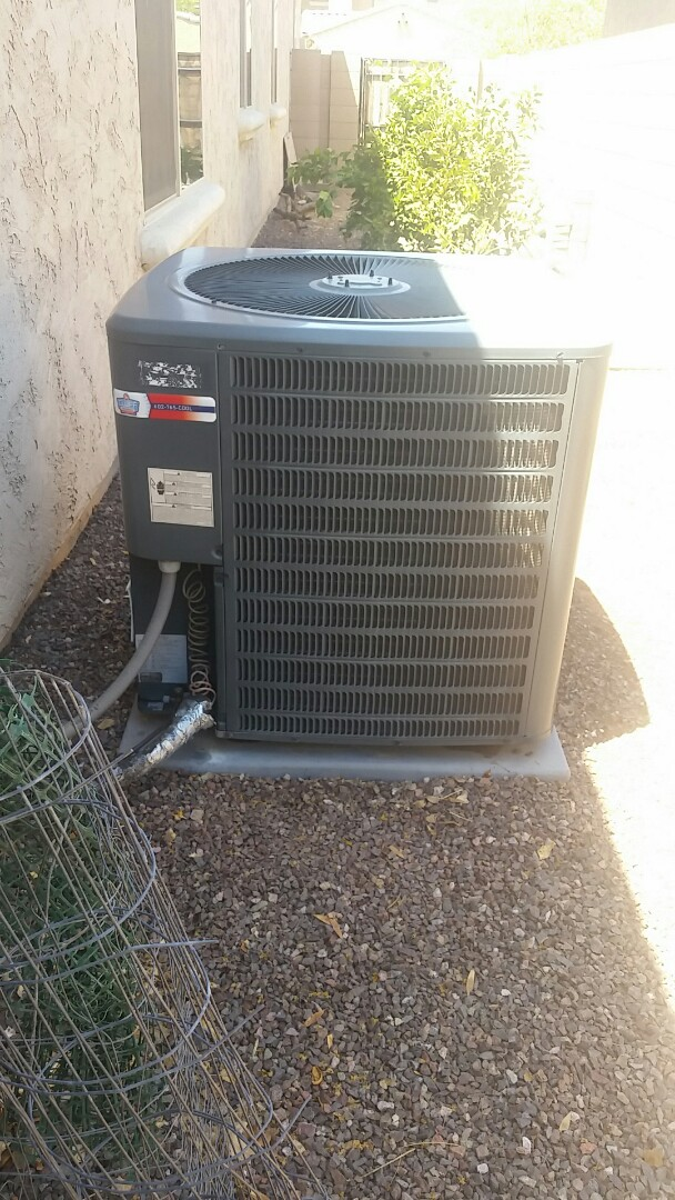Goodyear, AZ - A/C cooling maintenance on Goodman unit in Goodyear.