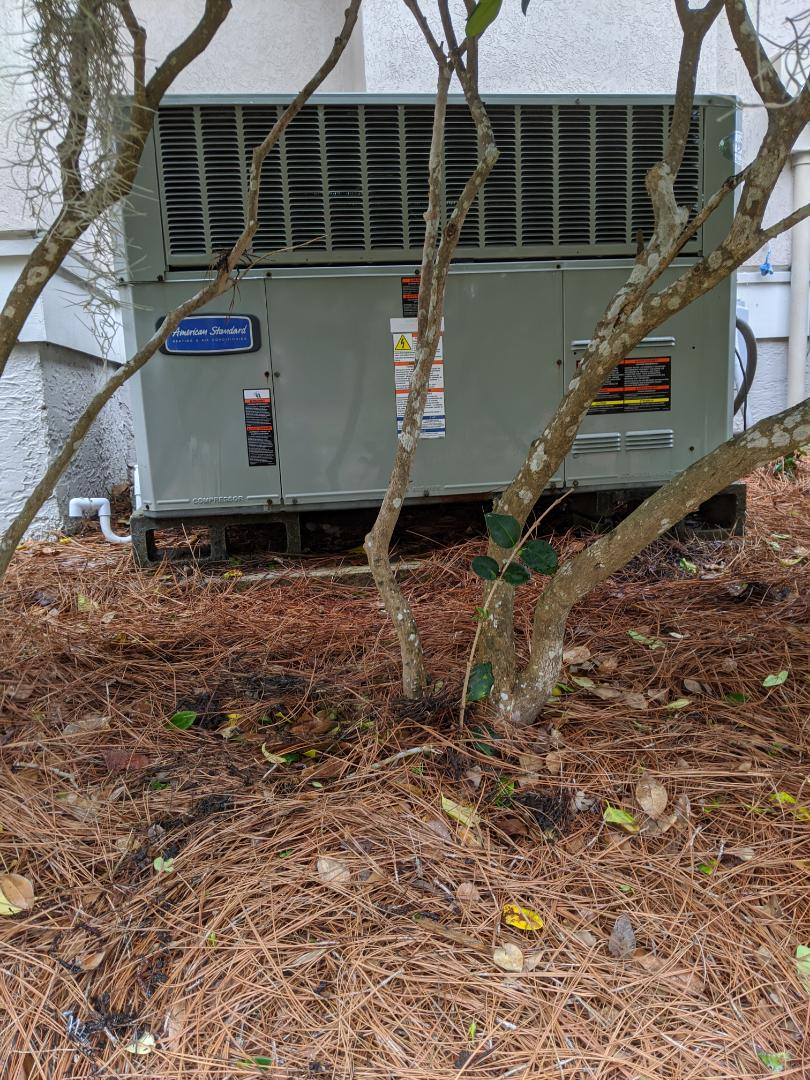American Standard heat pump package unit service and maintenance