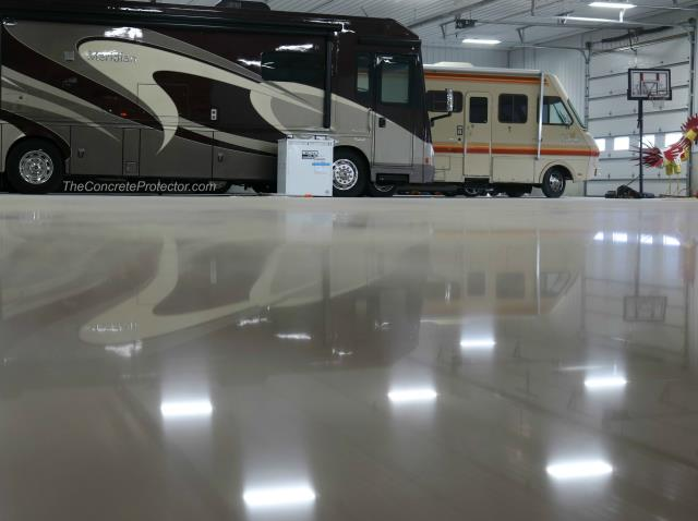 Alachua, FL - Match Patch Pro can hide any crack in polished concrete!
