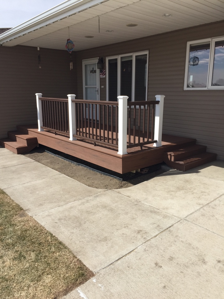 Bismarck, ND - The Deck Store.  Azek Mahogany.
