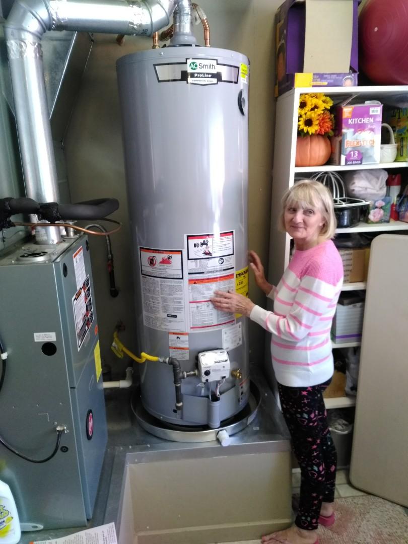 Tucson, AZ - Installing a AO Smith 40 Gallon Natural Gas Water Heater in Tucson Estates