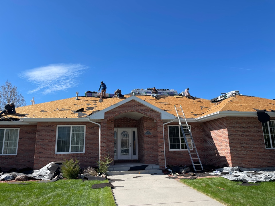 Cheyenne, WY - Hail damage on this clients roof! Replacing the entire roof!