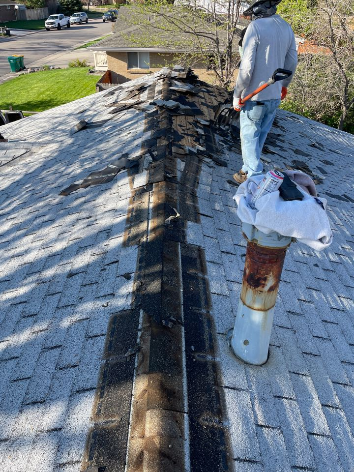 Centennial, CO - Replacing this old roof it had two layers of shingle and it was time for a new one!